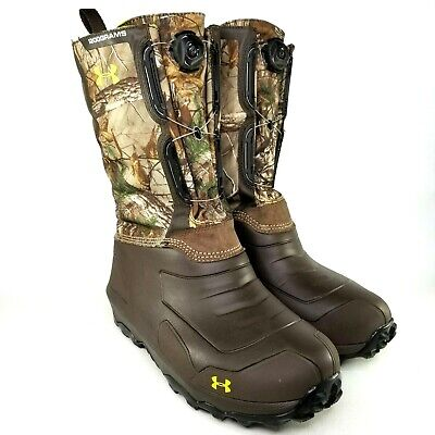 Under Armour Ridge Reaper Pac 1200 BOA Hunting Boots Mens Size 12 Realtree Camo