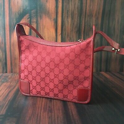 Gucci Red GG Monogram Small Shoulder Bag