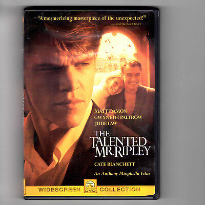 The Talented Mr. Ripley (Widescreen DVD, 2000) Matt Damon, Jude Law