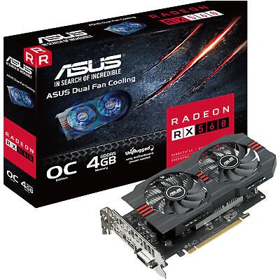 ASUS Radeon RX 560 EVO 4GB GDDR5 , 90YV0AH9-M0NA00 , Grafikkarte NEU OVP