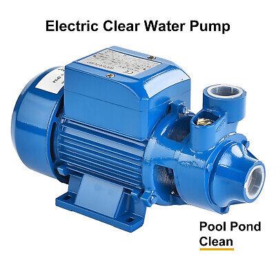 1.0hp Centrifugal Clean Clear Water Pump Electric Industrial Farm Pool Pond Pump
