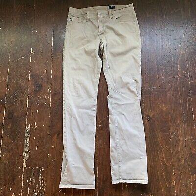 AG Adriano Goldschmied Mens The Graduate Tailored Leg Jeans Pants Khaki 31x32