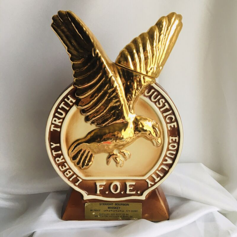 Fraternal Order of Eagles Whiskey Bourbon Decanter, July 1972 Atlanta Convention