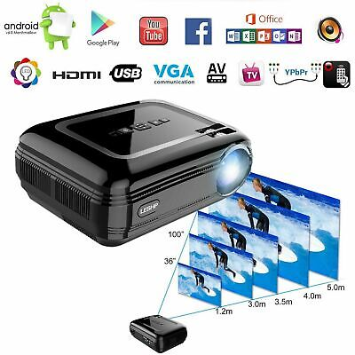 LESHP 3200 Lumens 1280x800 Contrast 3000:1 Support Full 1080p HD LCD Projector