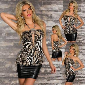 sexy-da-donna-per-discoteca-ECONOMICO-Camicia-Blusa-leopardato-LOOK