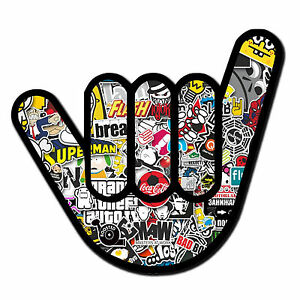 2 x Sticker Bomb Hand Sticker Bike Helmet Quad Skate Car ...