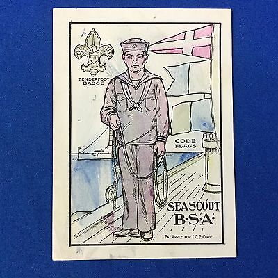 Boy Scout Color Picture Card Sea Scouts Buy Betsy Ross Bread