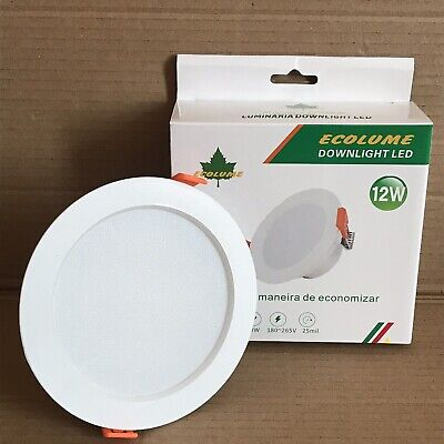 Ecolume 12w LED Downlight with Built In Driver - 120mm Dia -...
