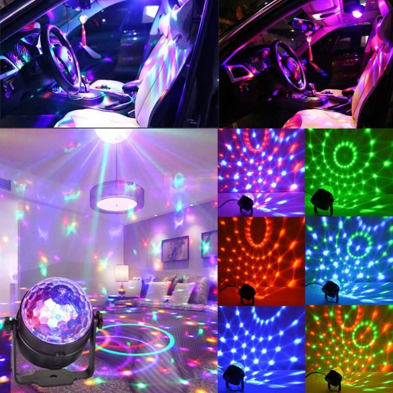 Disco Lichteffekt LED Discokugel DJ Party RGB Bühnenbeleuchtung Effekt Licht
