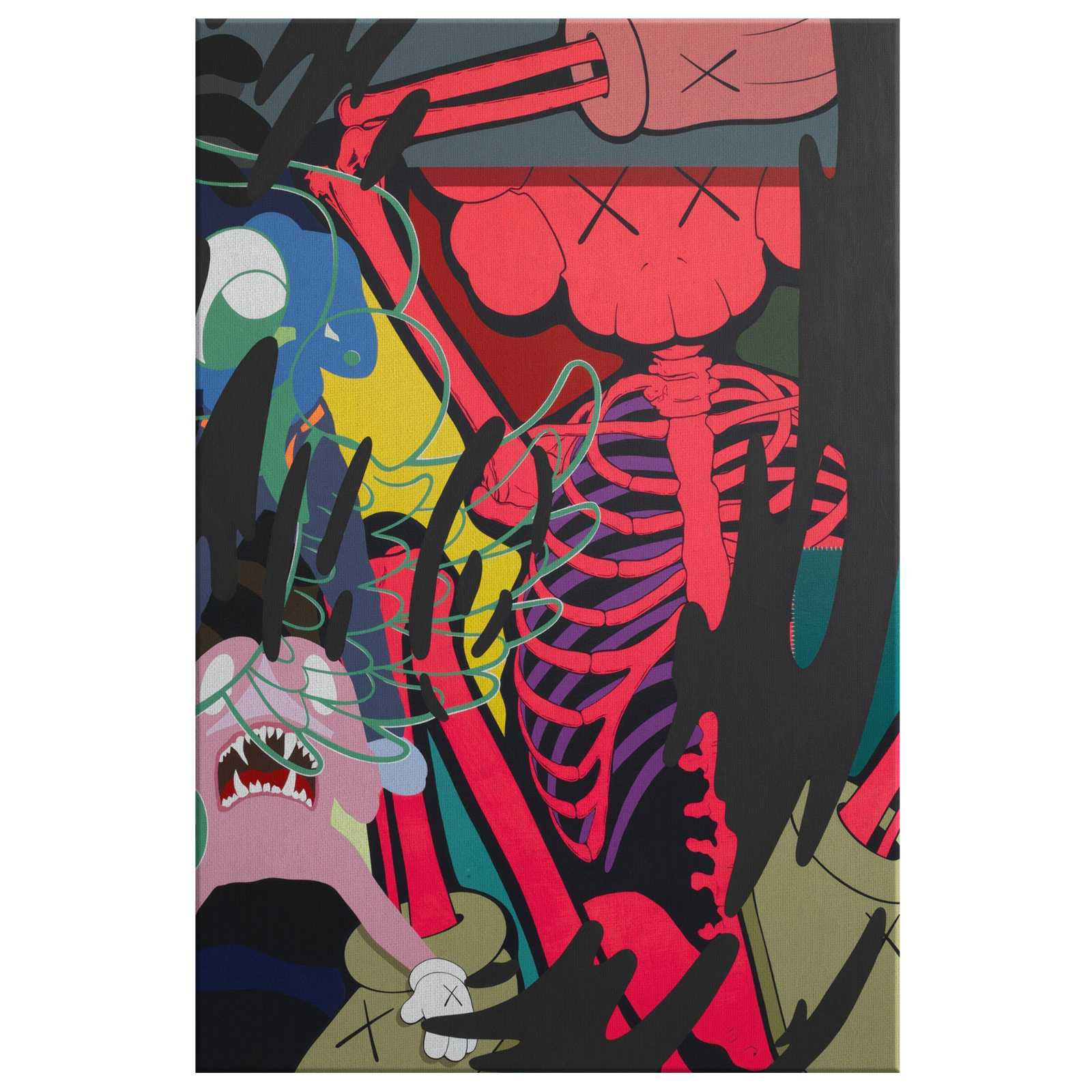Kaws Companion Modern Graffiti Street Art Canvas