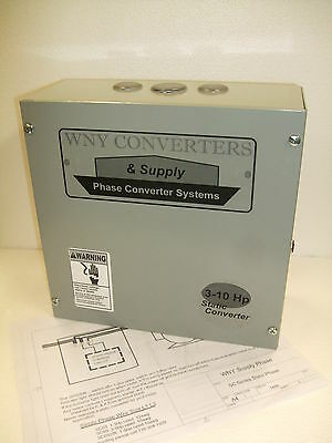 HD 3 - 10 Hp Static Phase Converter Mill Drill Lathe USA MADE one to three SC10