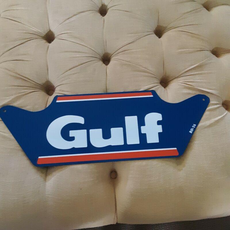 GULF Oil Gas Service Station Tire Display Rack Garage Shop Sign