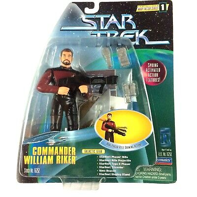 Star Trek Commander Riker Galactic Gear Warp Factor Series 1 Sealed Playmates