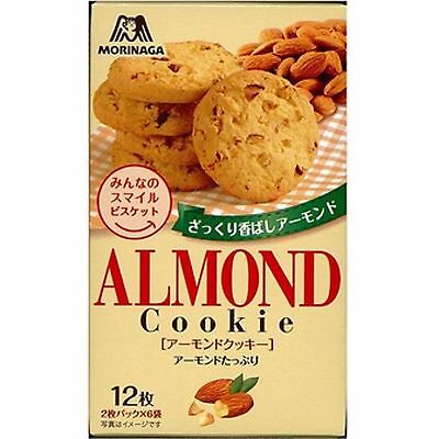 New Morinaga Almond cookies 12 sheets  Made in Japan Free Postage F/S