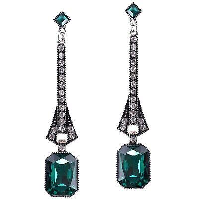 Gatsby Earrings Art Deco Vintage 1920s Flapper Jewelry Accessories Party (1920 Earrings Flapper)