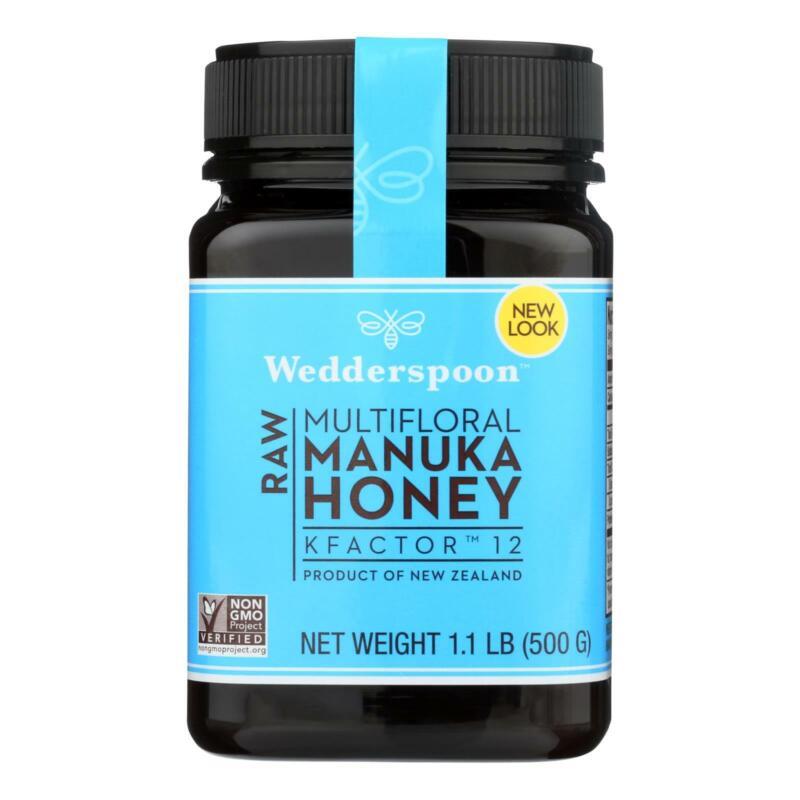 Wedderspoon Raw Manuka Honey Kfactor 12  - Case Of 6 - 17.6 Oz