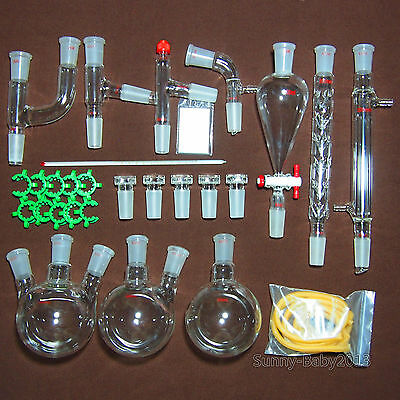 500ml2440lab Chemistry Glassware Kit28pcsstandard Ground Joint