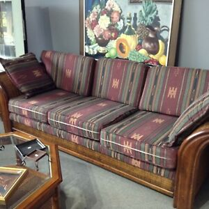 NEW PRICE Wicker Framed Sofa #HFHGTA Newmarket ReStore