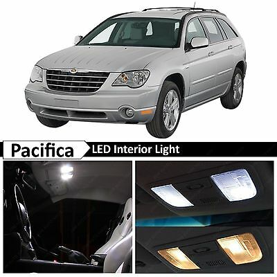 14x White Interior LED Lights Package Kit for 2004-2008 Chrysler Pacifica