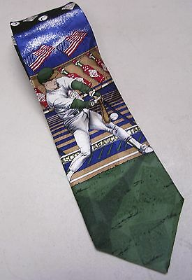 Tabasco Pepper Sauce Baseball Mens Tie Necktie 100 % Silk Black Green Blue Red for sale  Shipping to India