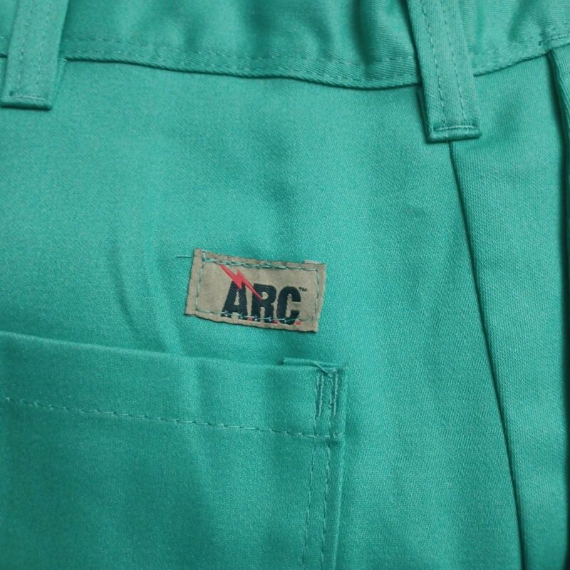 ARC MAGID GREEN FLAME RESISTANT PANTS FOR WELDING- BLACKSMITH WORK-AUTO REPAIR