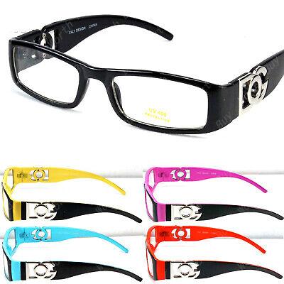 Mens Women Clear Lens Rectangular Frame Fashion Eye Glasses Designer Optical (Women Spectacles)