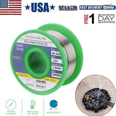 Fine Lead Free Solder Wire Sn99.3 Cu0.7 1mm Rosin Core Soldering Repairing Diy
