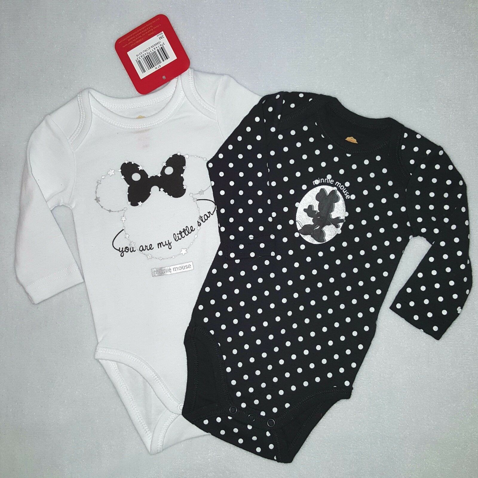 Lot de 2 bodies MINNIE