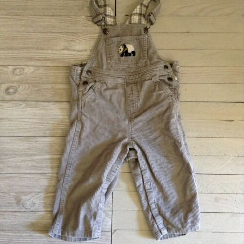 Janie And Jack Gray Corduroy Overall SZ 18-24 mon. Snap legs