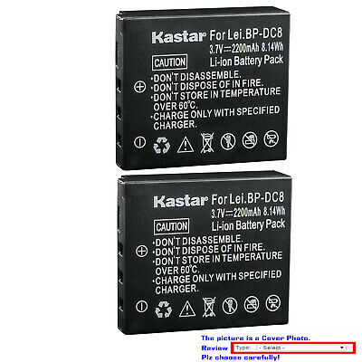 Leica Replacement Battery - Kastar Replacement Battery for Leica BP-DC8 DC8E & Leica X2 Digital Camera