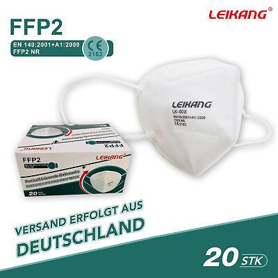 20 FFP2 Maske Mundschutz Atemschutz 5 lagig Gesichtsschutz