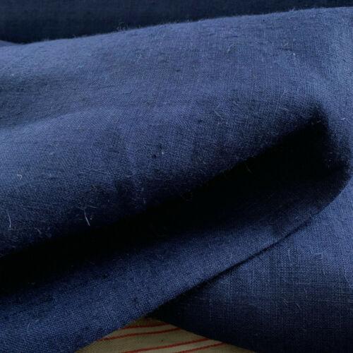 Vintage Indigo Linen by the Yard French  BOLT upholstery Heavy Hemp Work Fabric