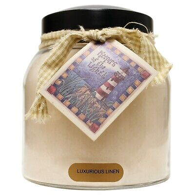 A Cheerful Giver Luxurious Linen Scented Jar Candle 34 oz Papa JP02