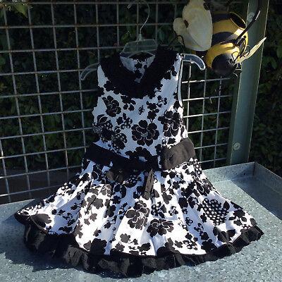 Trish Scully Black & White Flapper Dress 2T NWT!