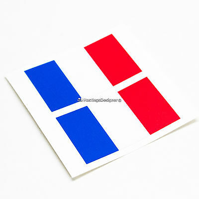 2x FRENCH FLAG France Tricolore Laminated Car,Bumper,Laptop Vinyl Decal Stickers (French Flag Bumper Sticker)