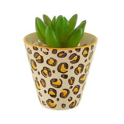 Sass & Belle Leopard Animal Print Love Mini Planter Botanical Plant Flower Pot
