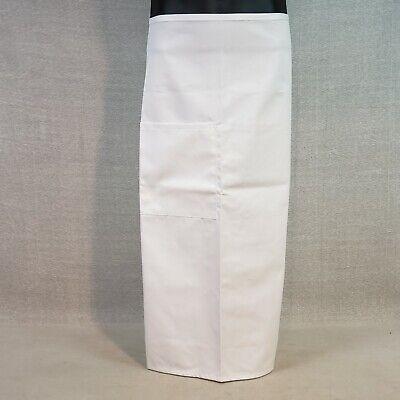 White Full Length Bistro Boh Apron 1 Patch Pocket 27 W X 31 L Fame Fabrics F24