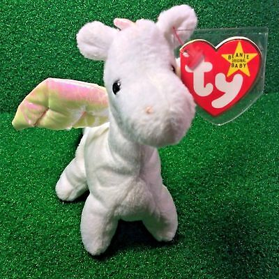Incredibly LIMITED 1995 Ty Beanie Baby Puff The Magic Dragon MWMT Retired Errors