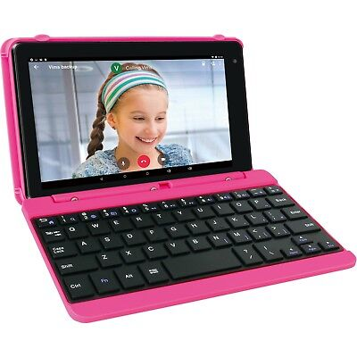 """RCA Voyager Pro 7"""" 16GB Tablet with Keyboard Android 6.0, Pink"""