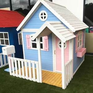 Kids Outdoor New Painted Cubby House Play House Fort Cubbies
