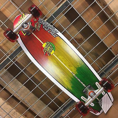 NEW Santa Cruz Landshark Rasta Cruzer Complete Skateboard - 8.8in x 27.7in