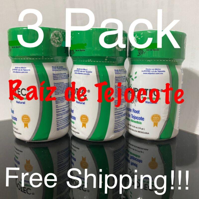 3 PACK RAIZ DE TEJOCOTE ROOT 100% NATURAL 10 GRAMS 3 BOTTLE OF 1 MONTH each