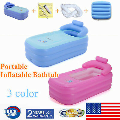 Blow Up Adult Spa PVC Folding Portable Bathtub Comfortable Inflatable Bath Tub  - Blow Up Tub