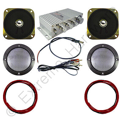 Wangma WM-333 Stereo Amplifier & 2 x Speakers, Grills, Wires Kit for...