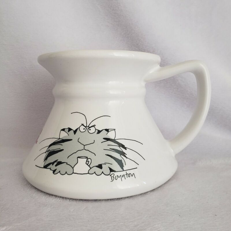 VINTAGE SANDRA BOYNTON KEEP YOUR PAWS OFF MY MUG FAT CAT NON SPILL COFFEE CUP