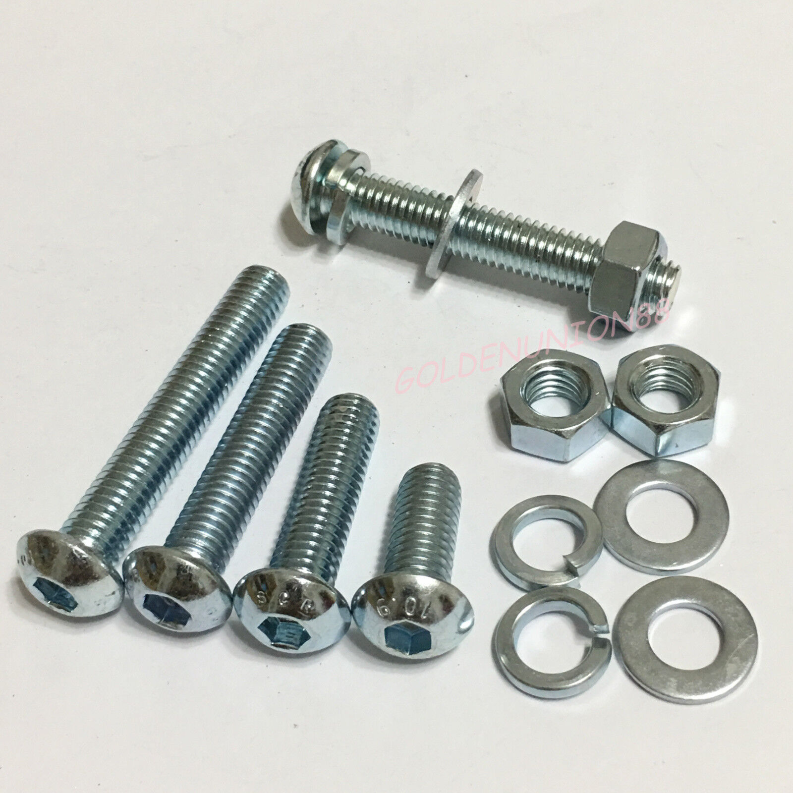 M6x16 Zinc Plated Socket Cap Allen Bolt with nuts x 10