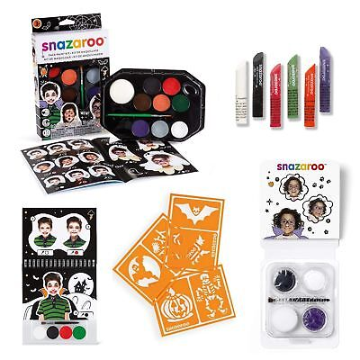 Halloween Facepaint Snazaroo Face Painting Set Kit Guide Paint Sticks FULL RANGE (Full Face Paint Halloween)