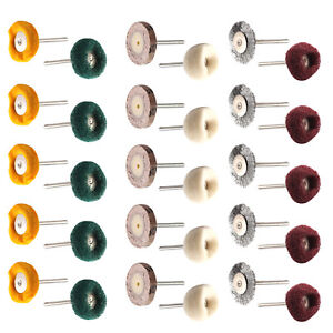 30 x Durable Polishing Mop Buffing Wheel Polish Pad Brush For Rotary Drill Bit