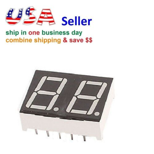 2 Digit Red 7 Segment LED Display Digital Tube Common Anode 10 Pins for Arduino