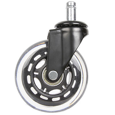 5 X Office Chair Replacement Caster Wheel Rollerblade Style 5 Wheels